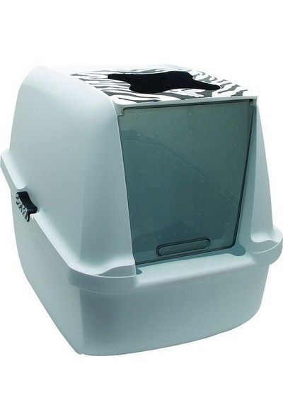 Hagen Catit Kedi Kapalı Tuvalet Kabı Zebra 57X46,5X39 Cm