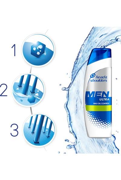 Head & Shoulders Men Ultra Maksimum Yağlanma Kontrolü Şampuan 2 x 400 ml + Gillette Mach 3 Tıraş Makinesi