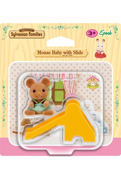 Sylvanian Families Mouse Baby W Slide 4562