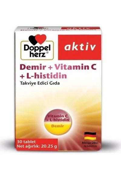 Doppelherz Aktiv Demir + Vitamin C + L-Histidin 30 Tablet