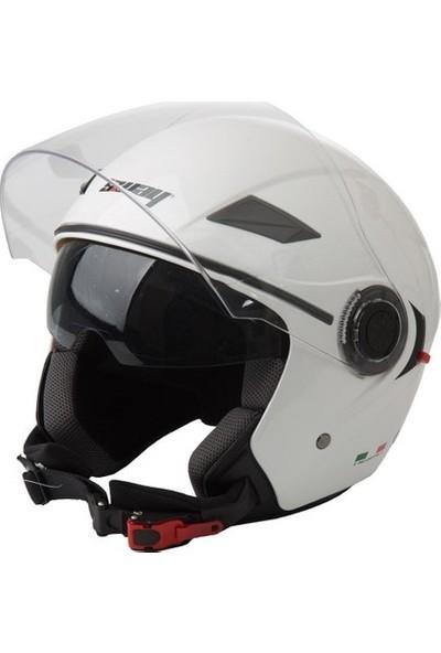 Sway 702B Yarım Açık Motosiklet Kaskı Güneş Vizör Ece Kask