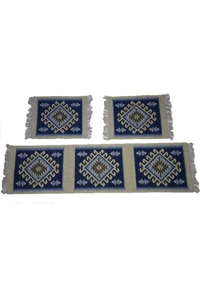 Lidya Tekstil Çift Taraflı Antik Kilim Oto Koltuk Seti - Ön Ve Arka Koltuk 3 Parça