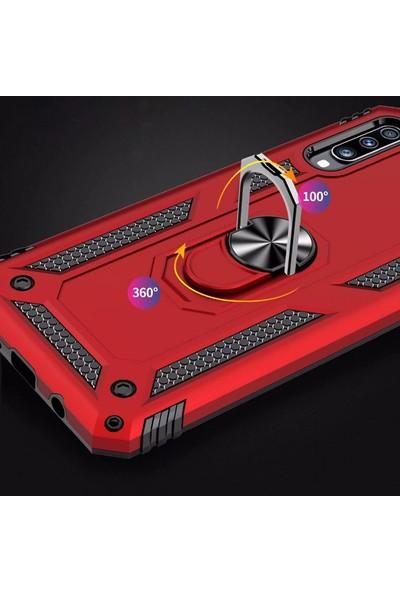 Zore Samsung Galaxy A50 Vega Standlı Yüzüklü Tank Silikon Kılıf