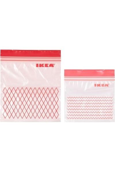 Ikea Istad Ki̇li̇tli̇ Buzdolabi Poşeti̇ - 60 Adet - Kirmizi