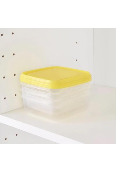 Ikea Pruta Yi̇yecek Saklama Kabi - Sari - 3 Adet