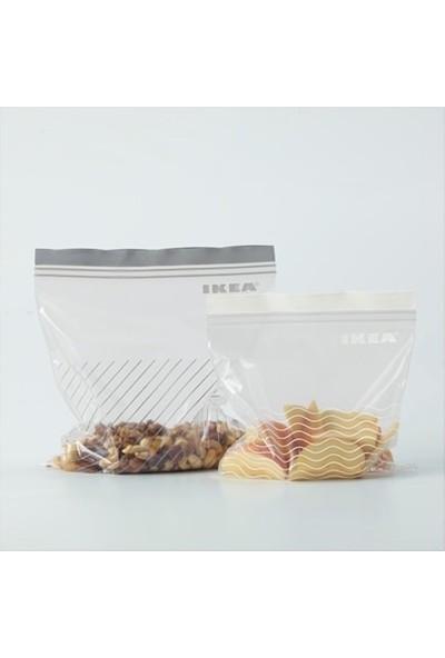 Ikea Istad Ki̇li̇tli̇ Buzdolabi Poşeti̇ - 50 Adet - Gri̇