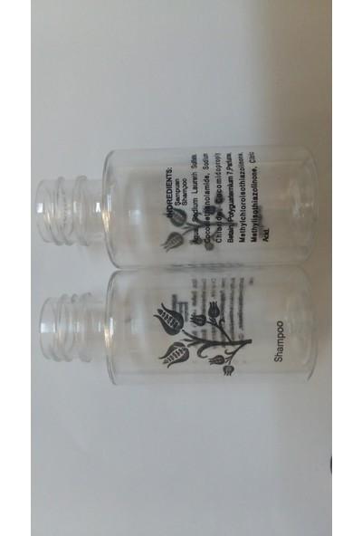 Bukisa Boş Otel Şampuan Şişesi 31 ml Standart Tampon Baskılı Kapak Dahil 350 Adet