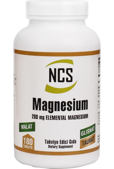 Ncs Magnesium Malat Glisinat Taurat 180 Tablet