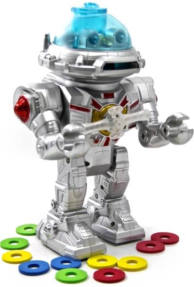 Birlik Oyuncak Sesli Işıklı Müzikli Hareketli Disk Atan Robot