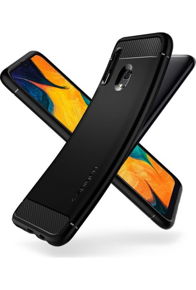 Spigen Samsung Galaxy A30 Kılıf Rugged Armor Matte Black - 617CS26243