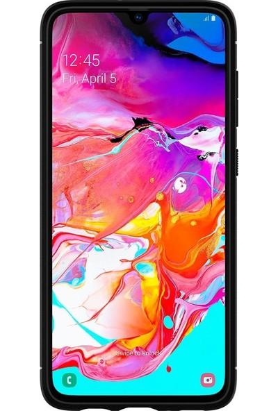 Spigen Samsung Galaxy A70 Kılıf Rugged Armor Matte Black - 620CS26386