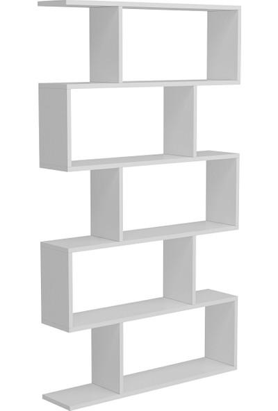 Minar Volans Kitaplık - Beyaz