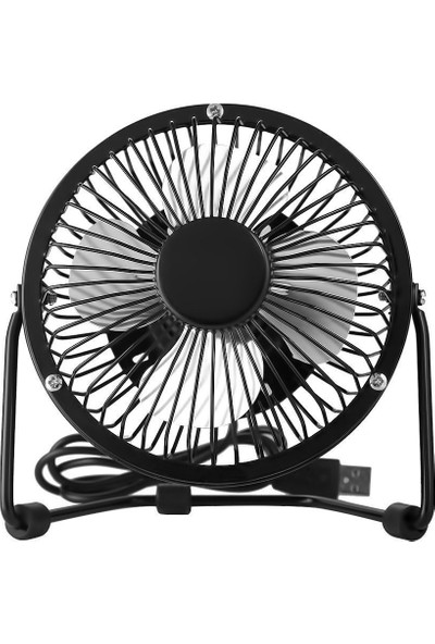 Coverzone USB Mini 4 Inç Metal Fan Vantilatör