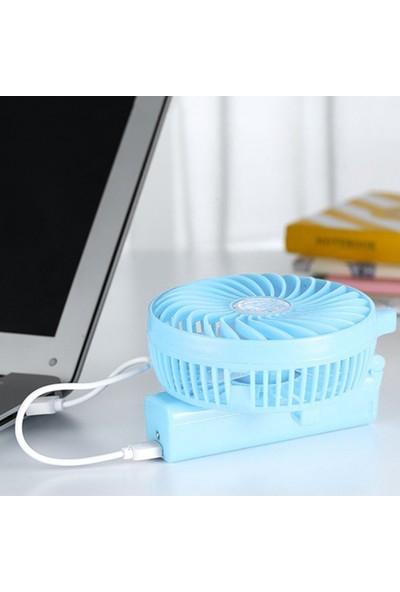 Coverzone Şarjlı Katlanabilir USB Mini Taşınabilir Vantilatör