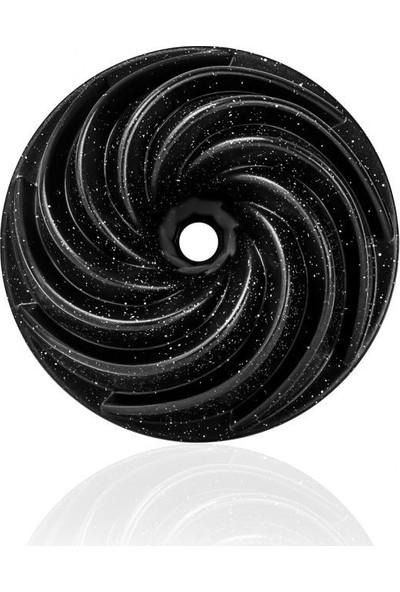 Taç 6540 Rüzgar Gülü Döküm Kek Kalıbı Siyah