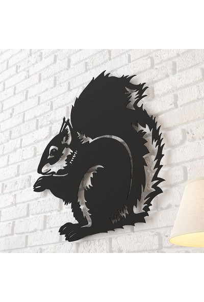 Dekomotif Sincap Metal Tablo Ev/ofis Dekorasyonu