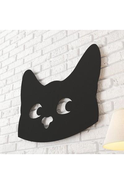 Dekomotif Cat Face Metal Tablo Ev/ofis Dekorasyonu