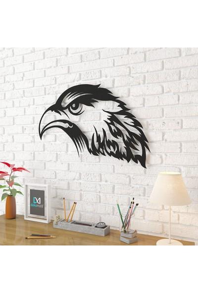 Dekomotif Kartal Kafası Metal Tablo Ev/ofis Dekorasyonu