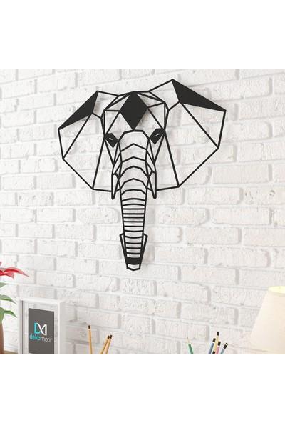 Dekomotif Fil Kafası Metal Tablo Ev/ofis Dekorasyonu