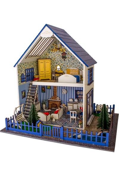 Hande's House Villa Mavi Aydınlatmalı