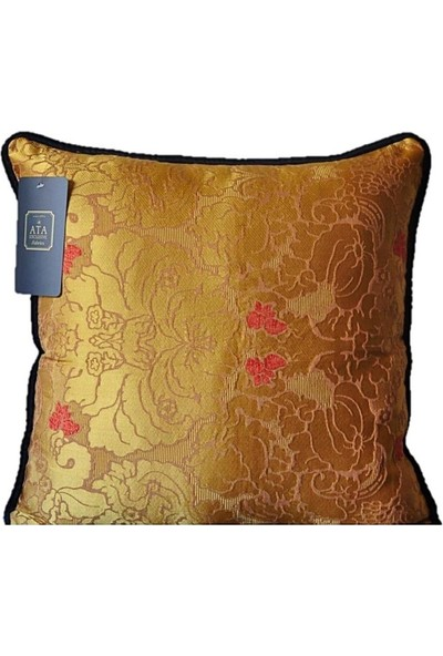Ata Exclusive Fabrics Nice Serisi Klasik Damask Saten Dekoratif Kırlent