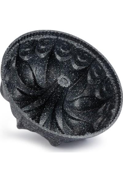 Thermoad Alüminyum Döküm Granit Kek Kalıbı Papatya / Gri
