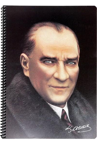 Keskin Color 80 Yaprak Spiralli Atatürk Portre Çizgili A4 Defter