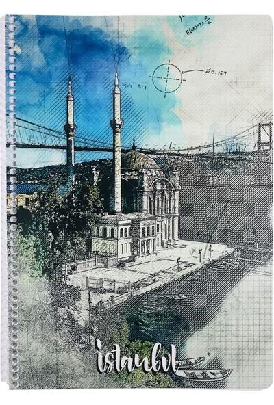 Keskin İstanbul Ortaköy Camii A4 Çizgili Defter - 80 Yaprak - Keskin Color