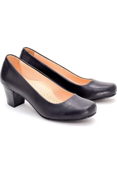 Girl Boss New York Luna Siyah Deri Hostes Ayakkabısı C4016-P-1