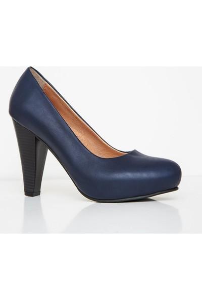 Girl Boss New York Posie Lacivert Comfort Deri Hostes Ayakkabısı C4017-P-1