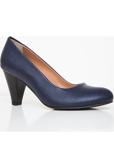 Girl Boss New York Isla Lacivert Comfort Deri Hostes Ayakkabısı C4018-P-1