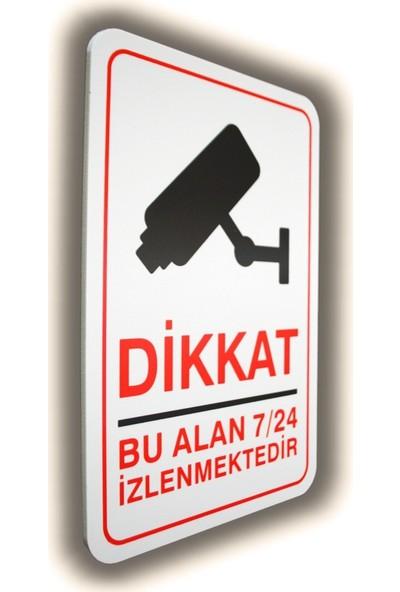 Passpano Pvc Uyarıcı Levha Gi̇zli̇ Kamera 16 x 24 cm