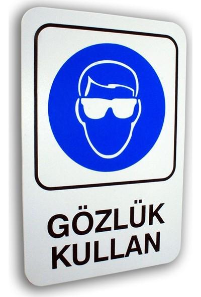 Passpano Pvc Uyarıcı Levha Gözlük Kullan 16 x 24 cm