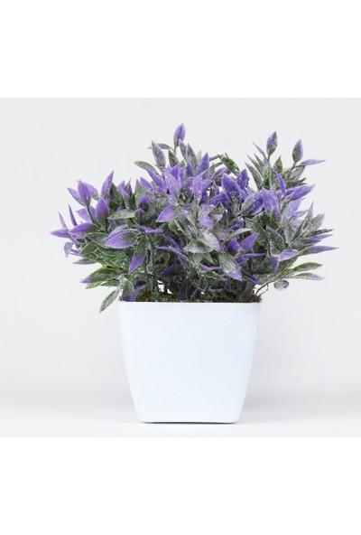 Bappay Dekoratif Banyo Çiçeği Raf Stand Üstü Bitki Yapay Çiçek