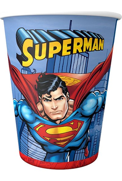 Karton Bardak Superman 8li̇