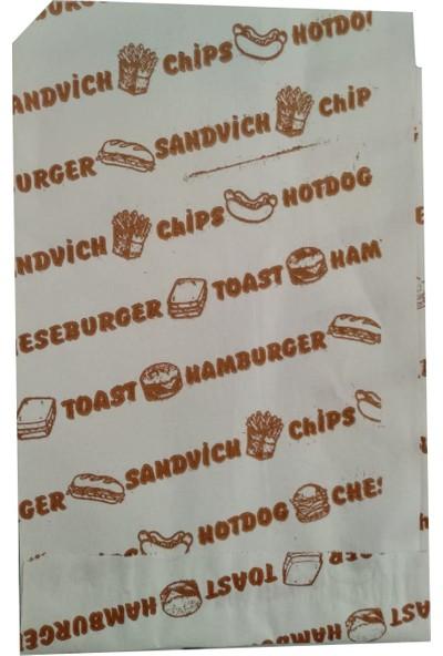 Mimsan Yarım Açık Sandviç Hamburger Tost Kağıdı (Kuşe) - 20 cm x 12,5cm - 10 kg