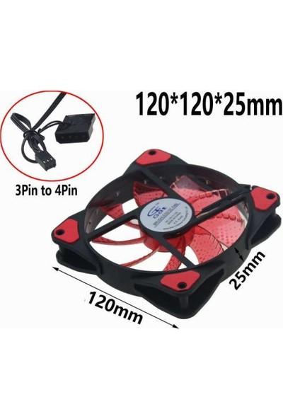 Platoon PLH048 12 cm 12 Volt Kırmızı Ledli Fan