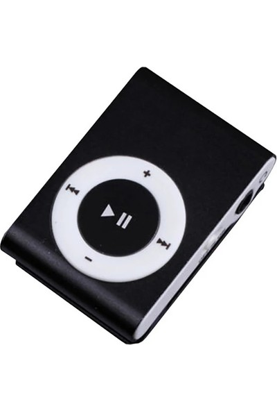 Shinwa Metal Mini Mp3 Çalar Player Kulaklık + 4GB Hafıza Kartı Siyah