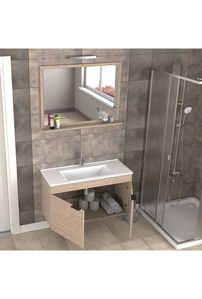 Biani Fix Arya 100 cm Banyo Dolabı Renk Aybe Bej