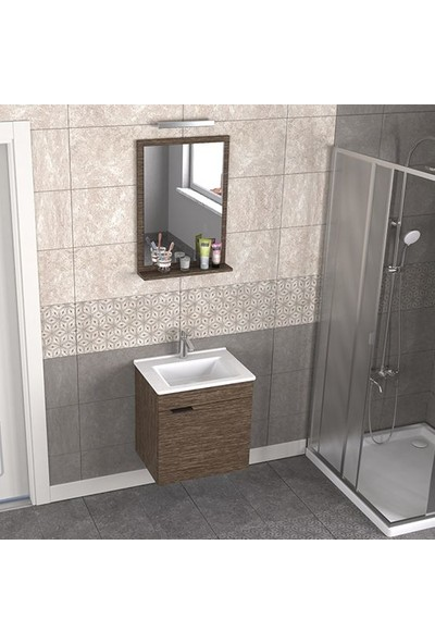 Biani Fix Arya 55 cm Banyo Dolabı Renk Aybe Kahve