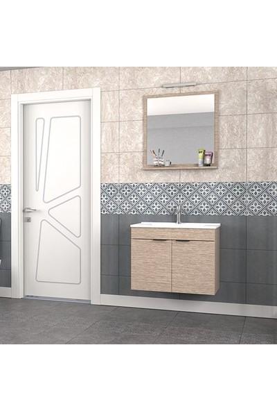 Biani Fix Arya 75 cm Banyo Dolabı Renk Aybe Bej