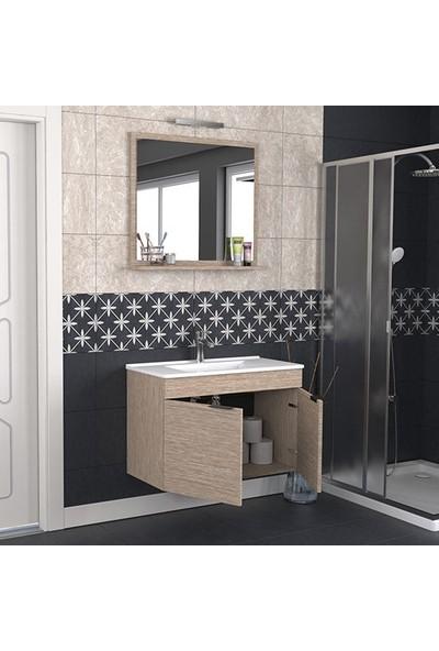 Biani Fix Arya 85 cm Banyo Dolabı Renk Aybe Bej