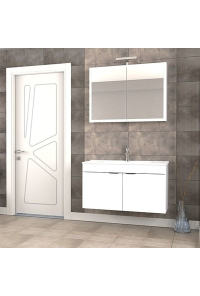 Biani Fix Loft 100 cm Banyo Dolabı Renk Mat Beyaz