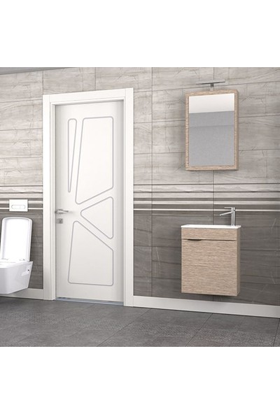 Biani Fix Loft 50 cm Banyo Dolabı Renk Aybe Bej