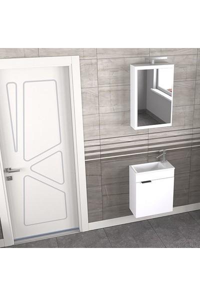 Biani Fix Loft 50 cm Banyo Dolabı Renk Mat Beyaz