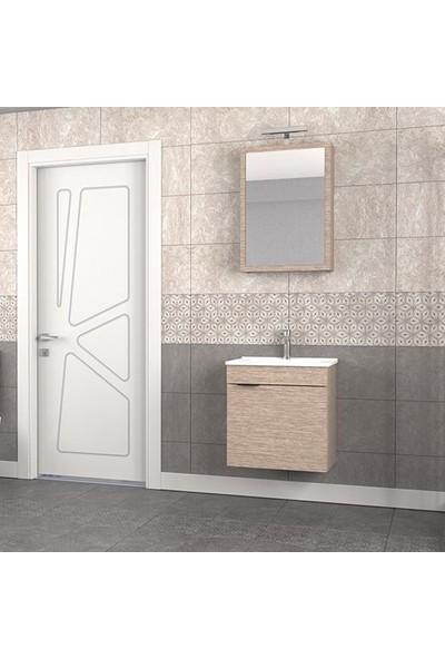Biani Fix Loft 55 cm Banyo Dolabı Renk Aybe Bej