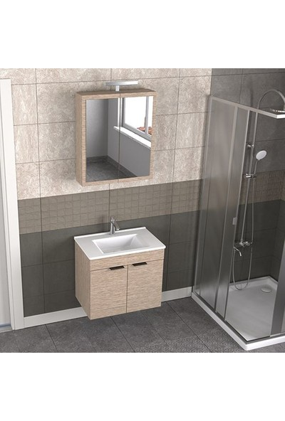 Biani Fix Loft 65 cm Banyo Dolabı Renk Aybe Bej