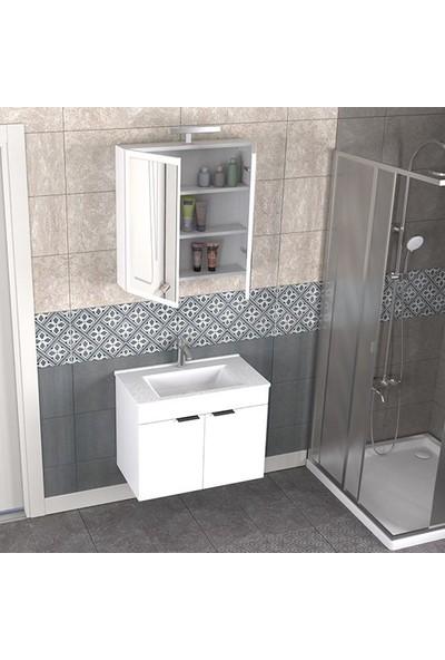 Biani Fix Loft 75 cm Banyo Dolabı Renk Mat Beyaz
