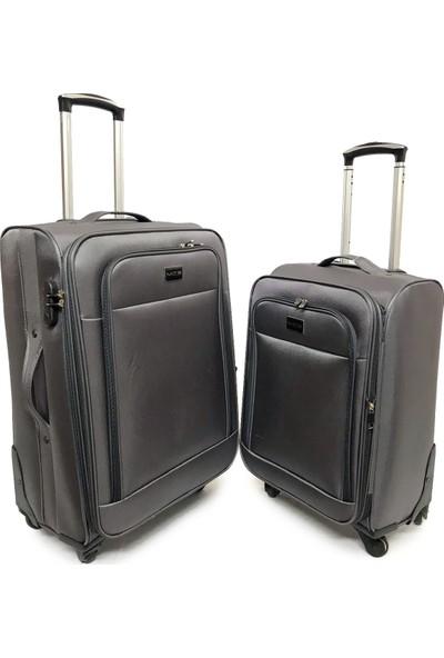 Mçs Lux Kumaş Valiz 2 Li Set Kabin-Orta