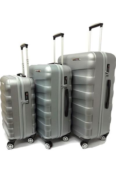 Mçs Lux Abs Valiz 3 Lü Set Kabin-Orta-Büyük